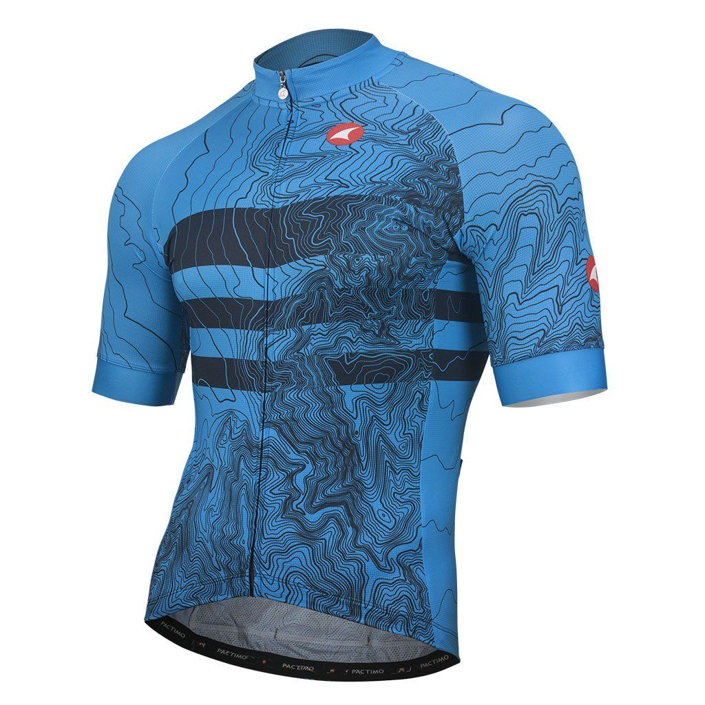 All Day Cycling Jersey For Men Topo Bands Design Pactimo