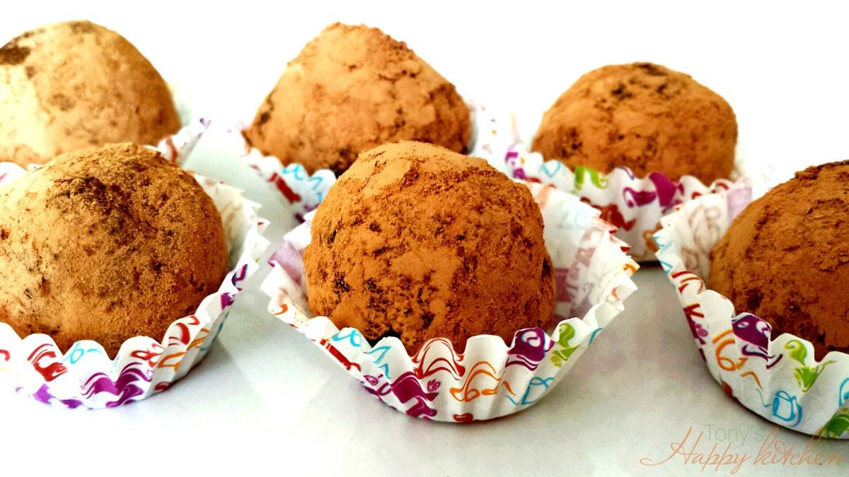 Шоколадови трюфели - Ricetta e preparazione: cucina salutare e vegetariana - Tony's Happy Kitchen