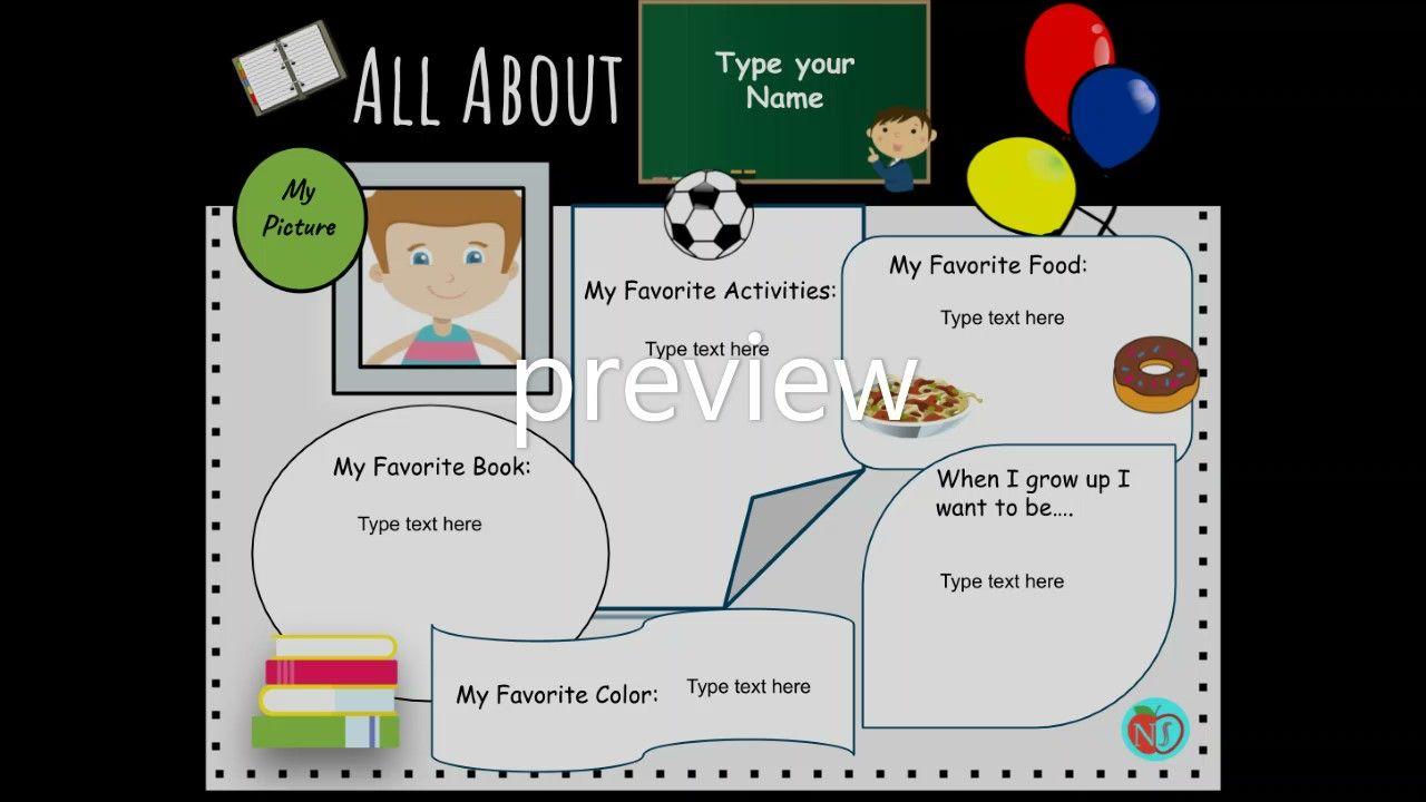 Editable All About Me Digital Worksheet Online Distance Learning Google Slides All About Me Worksheet All About Me Worksheets [ 720 x 1280 Pixel ]
