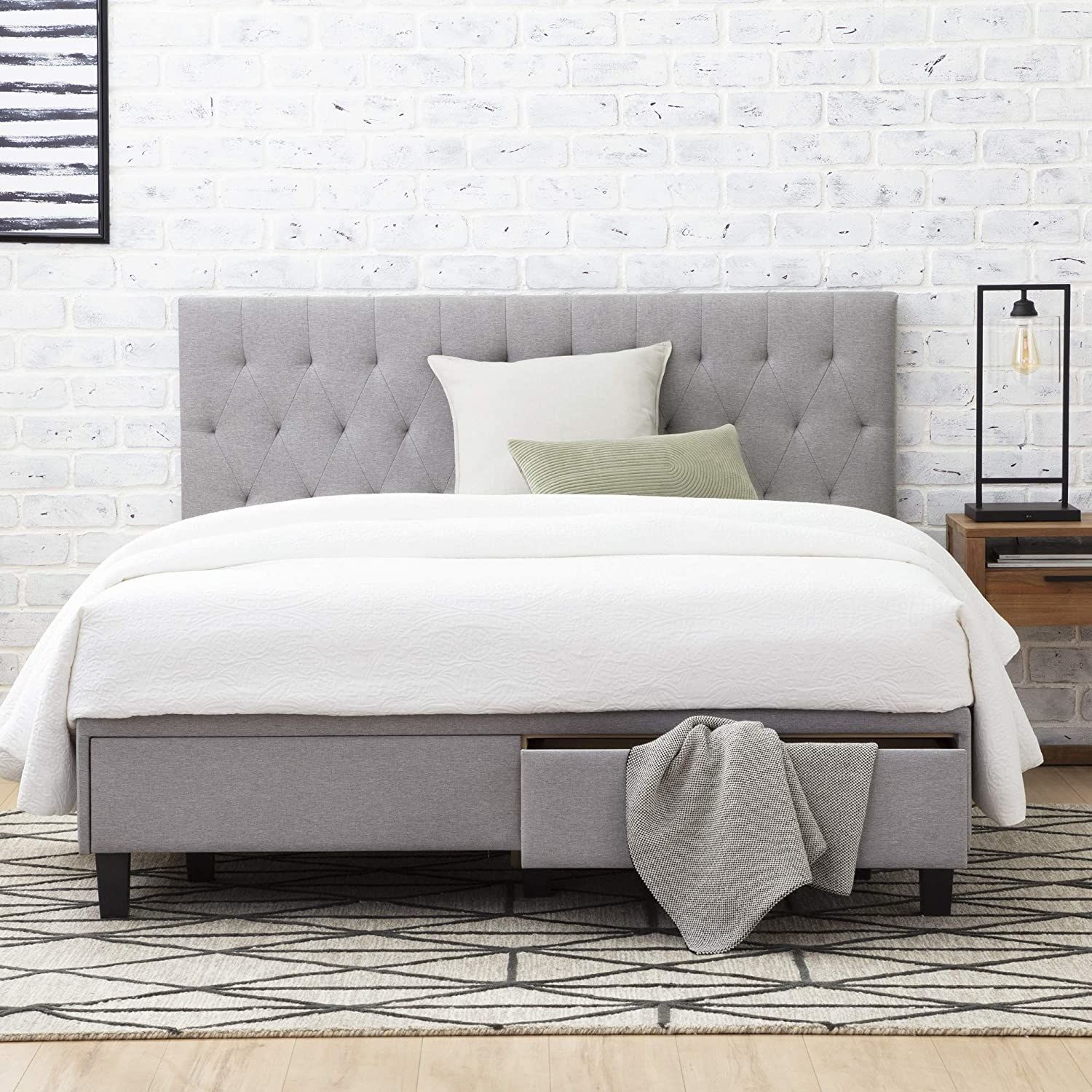 And finally, a tufted storage bed that's gonna give you