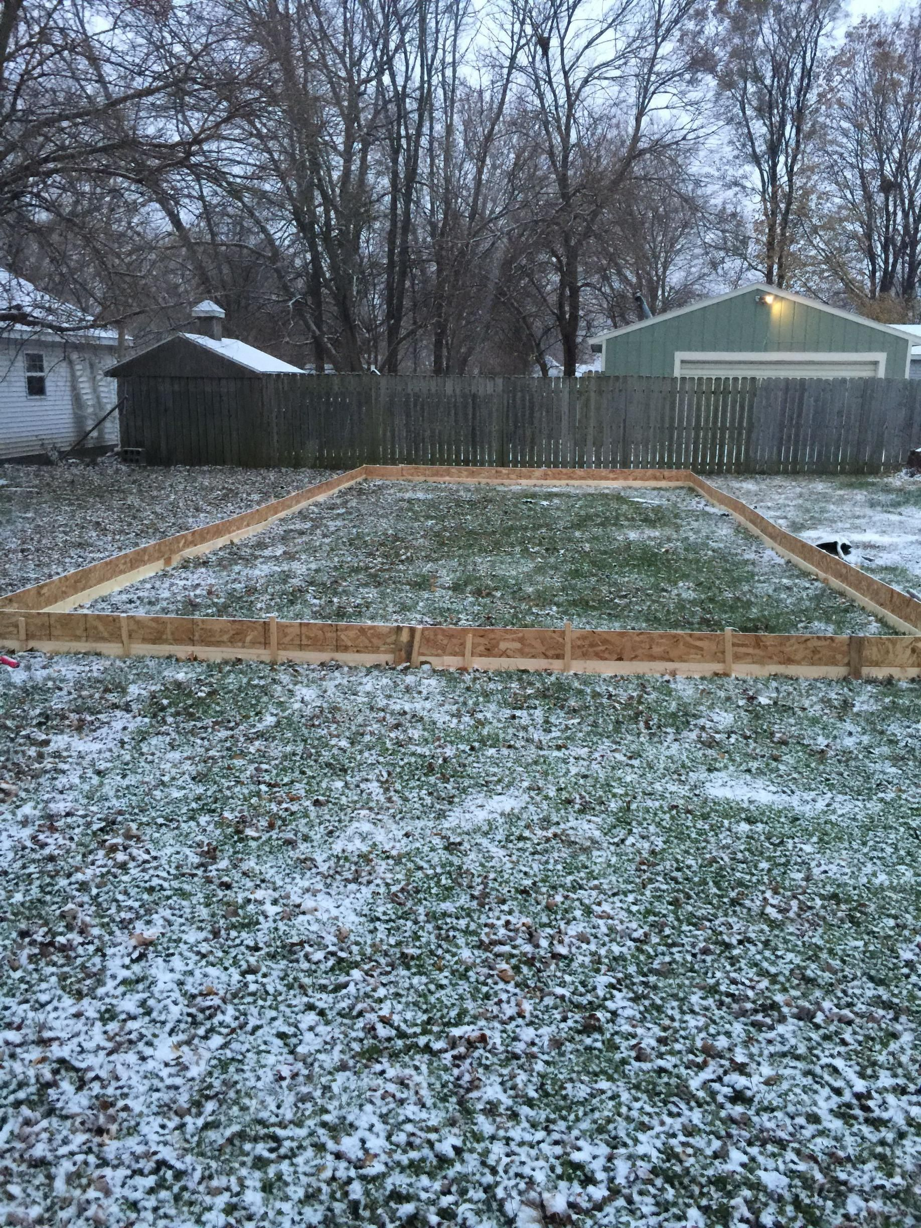 My 20x40 DIY Ice Rink for less than $150 | Backyard ice ...