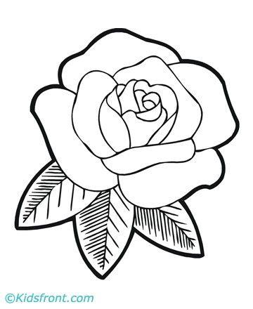 Kleurplaten Roos.Rozen Kleurplaat Google Zoeken Doornroosje Dibujos De Flores