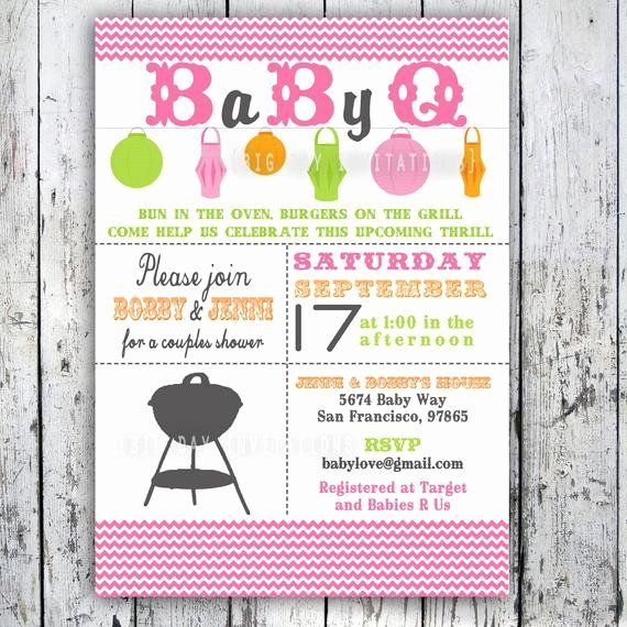 27 Baby Q Shower Invitations In 2020