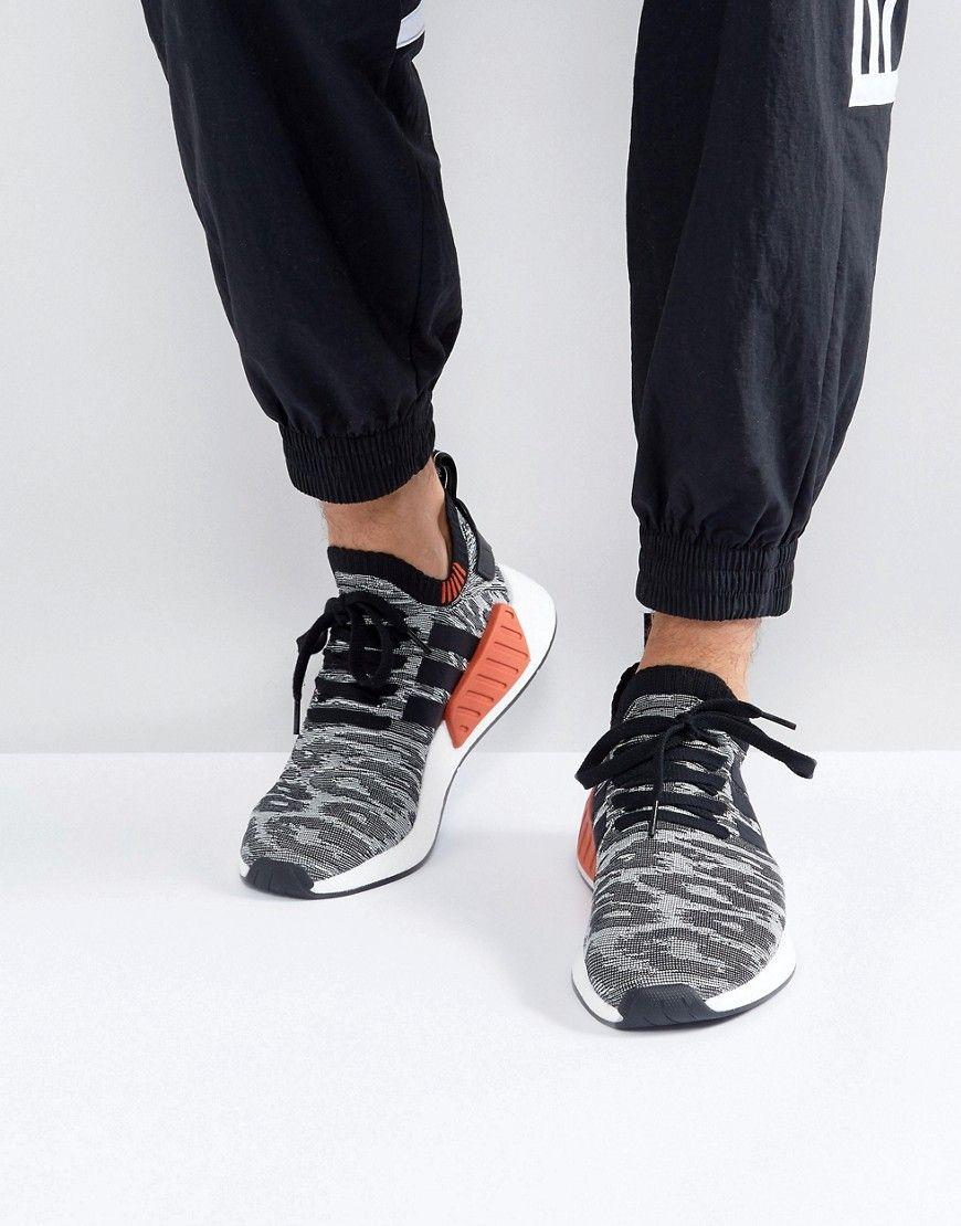 7ad184c7ad92 ADIDAS ORIGINALS NMD R2 PRIMEKNIT SNEAKERS IN BLACK BY9409 - BLACK.   adidasoriginals  shoes