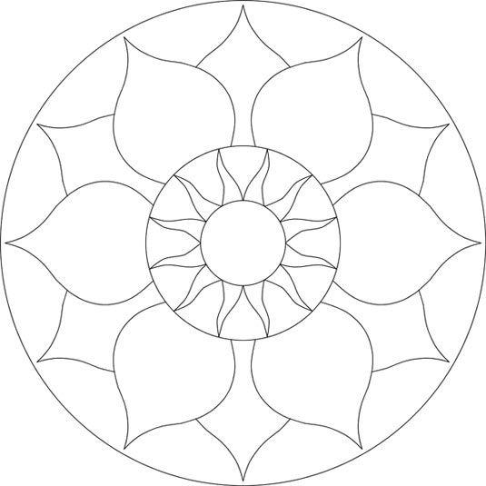 Chakra mosaic pattern by Brett Campbell Mosaics535 x 535