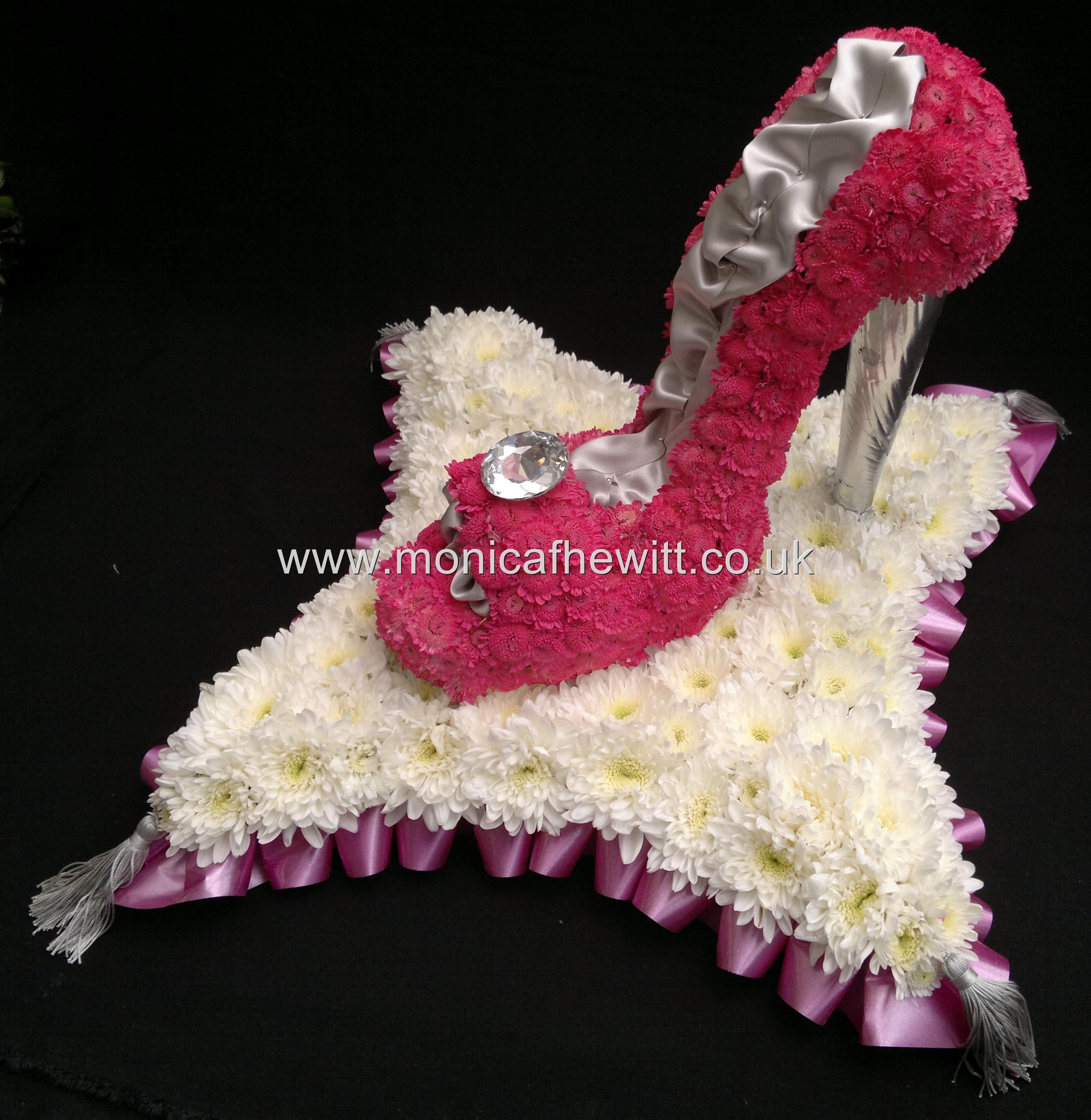 High heel shoe funeral flowers monica f hewitt florist sheffield high heel shoe funeral flowers monica f hewitt florist sheffield dhlflorist Gallery