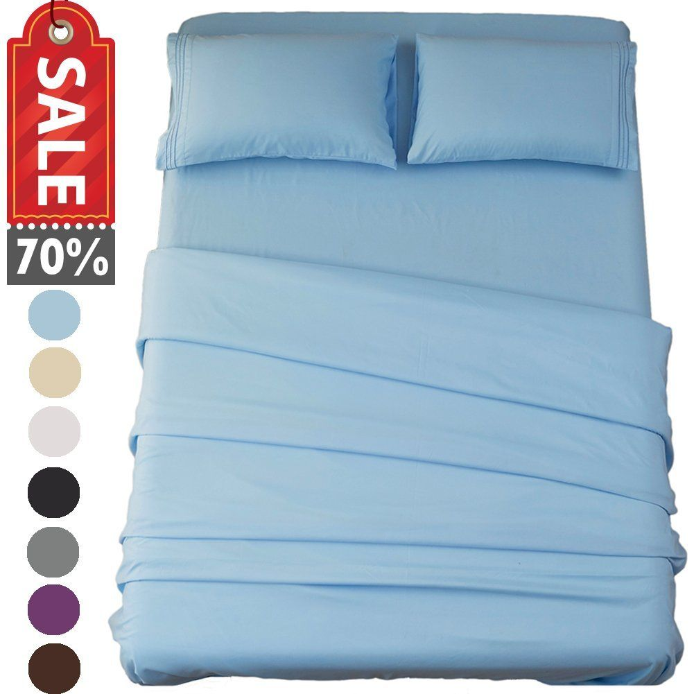 High Quality Bed Sheet Set Super Soft Microfiber Thread Count Luxury Sheets