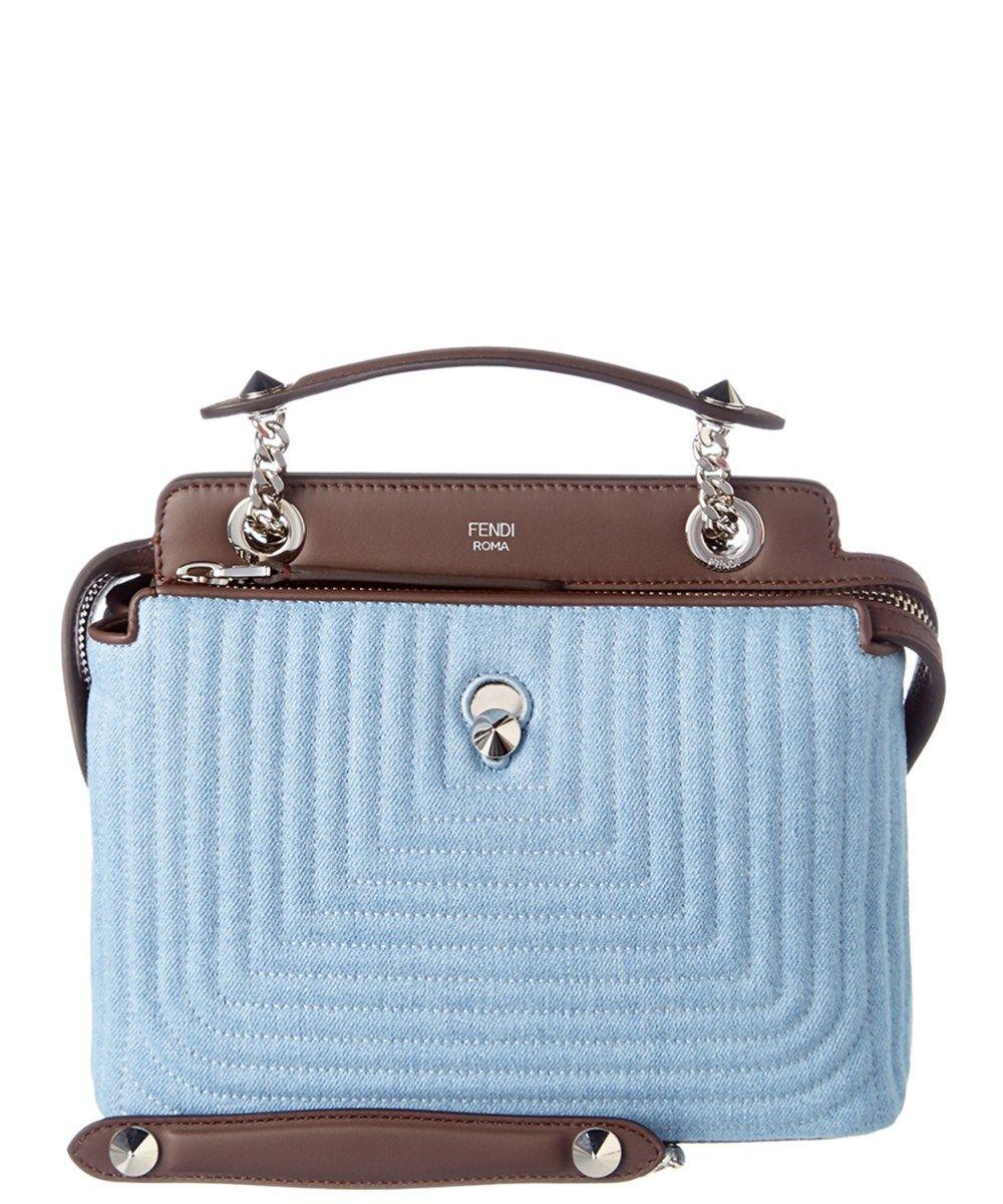 FENDI Fendi Dotcom Click Leather Shoulder Bag .  fendi  bags  shoulder bags   hand bags  denim  suede  lining   ca083fc40f6a7