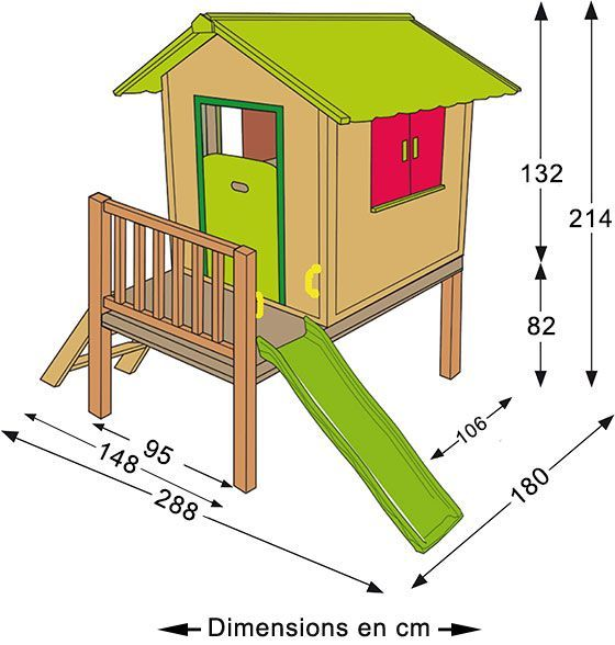 cabane bois mila sur pilotis cabane pinterest cabane cabane bois et maisonnette. Black Bedroom Furniture Sets. Home Design Ideas