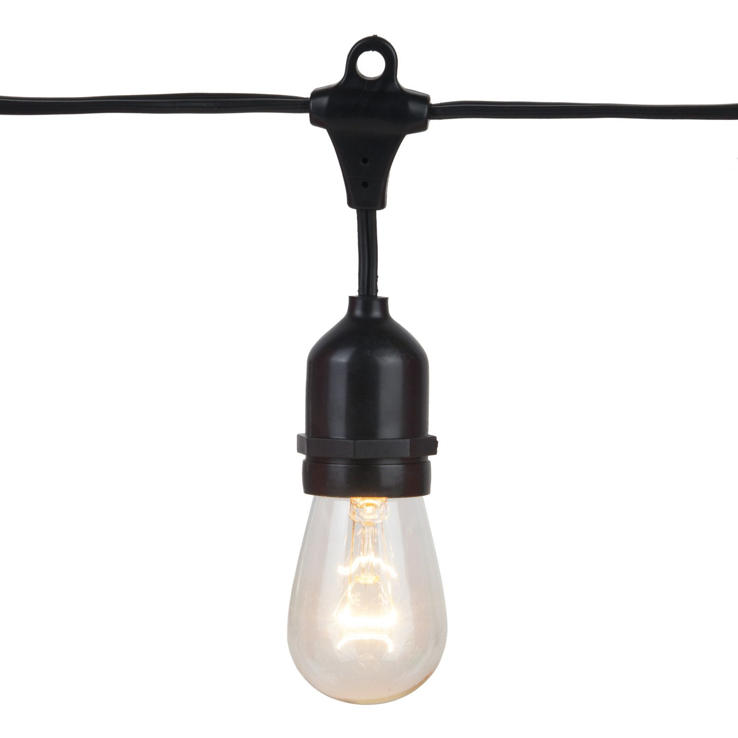 commercial patio lights. 108\u0027 Commercial Grade Patio String Lights, 50 E26 - Medium Sockets, Black Wire Lights P