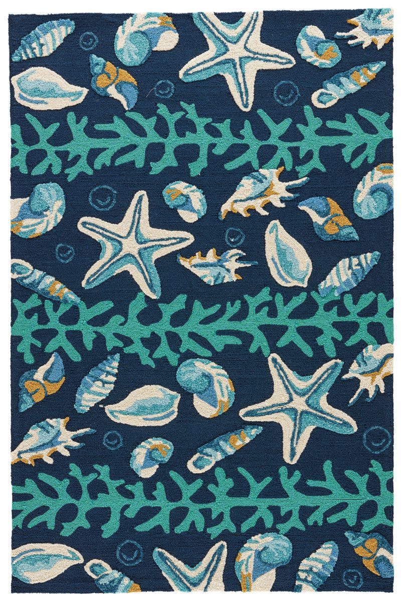 Navigate Towards A Fresh New Approach To Indoor Outdoor Rugs With Jaipur S Cheerful Coastal Indoor Outdoor Collection Tapetes De Area Estampas Florais Estampas