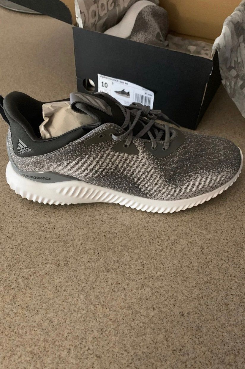 Up for bids is a pair of brand new in the box Adidas