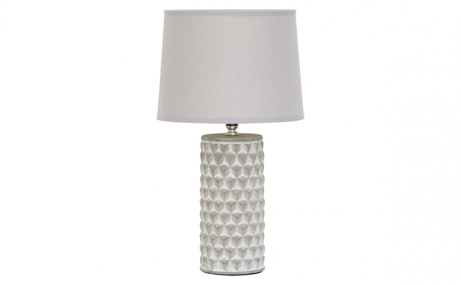 Cement Mini Lamp With Grey Shade Table Lamps