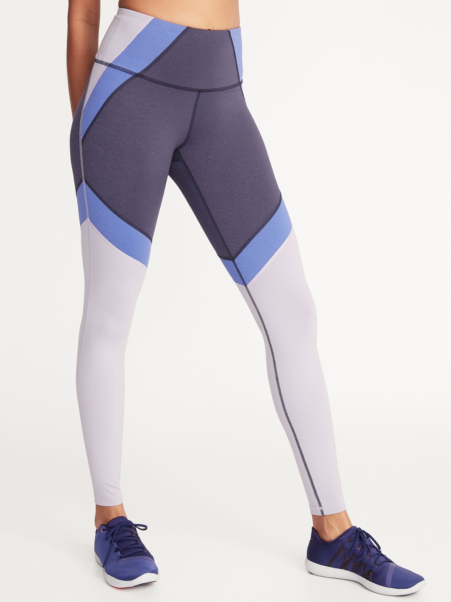 a6288aa208 High-Rise Elevate Color-Block Compression Leggings for Women | Old Navy