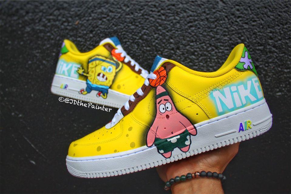 Air Spongebob Nike Air Force 1   THE