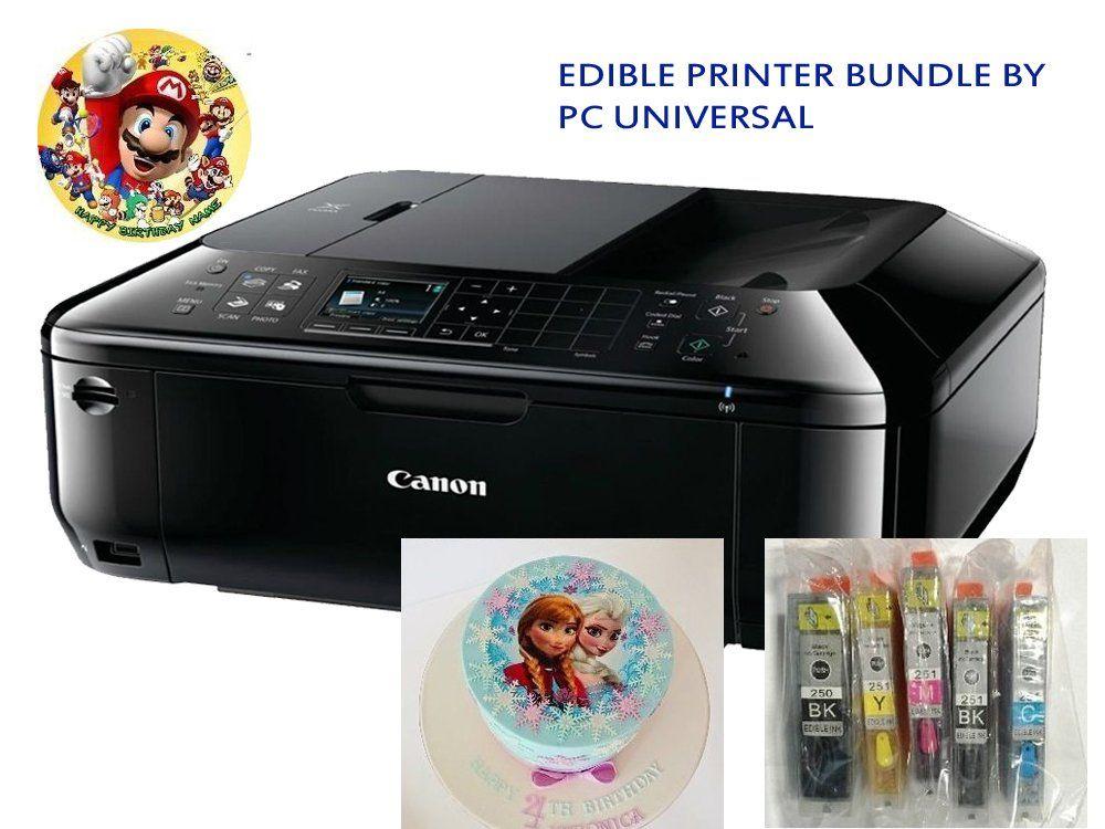 Edible Printer Bundle- Brand New Canon All-in-One Printer ...