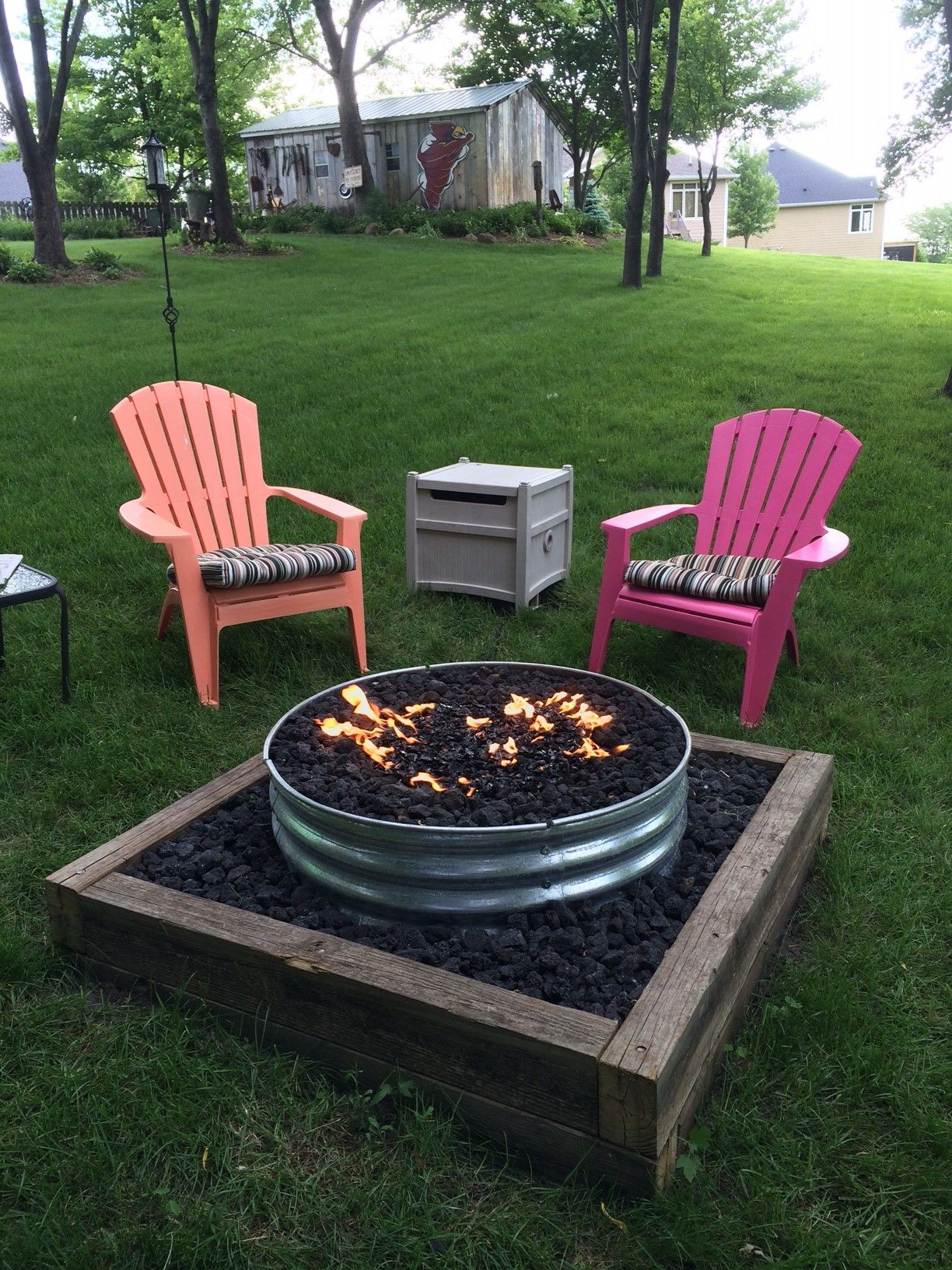 galvanized fire pit ring 48 fire pits pinterest fire pit