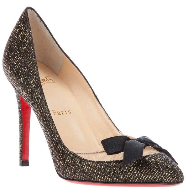 CHRISTIAN LOUBOUTIN bow-tie pump ($830) ❤ liked on Polyvore