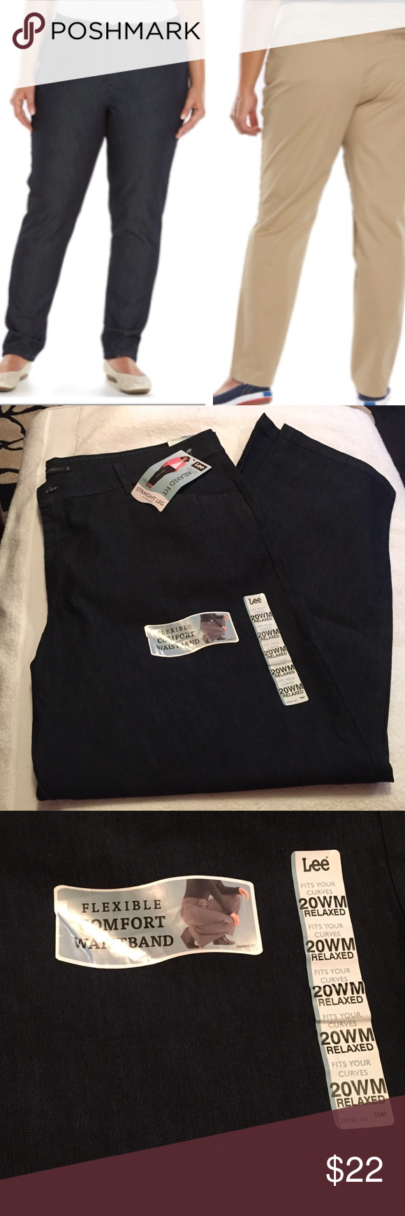 Plus size lee straight leg pants NWT | Indigo, Colors and Pants