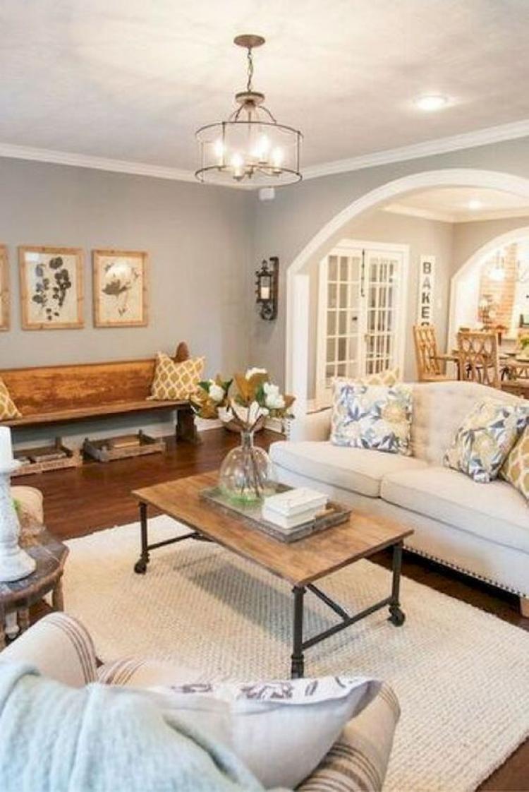 Simple And Elegant Rustic Farmhouse Living Room Decor Ideas I
