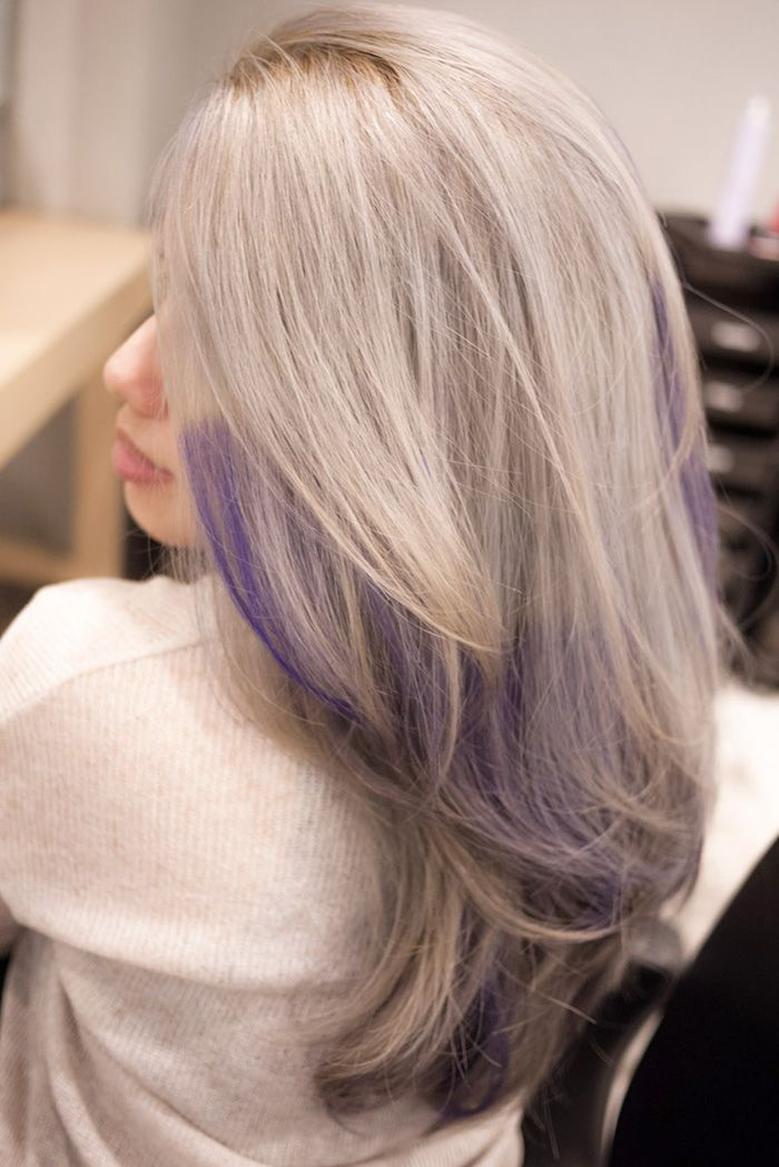 gallery for gt grey purple ombre hair greying gracefully