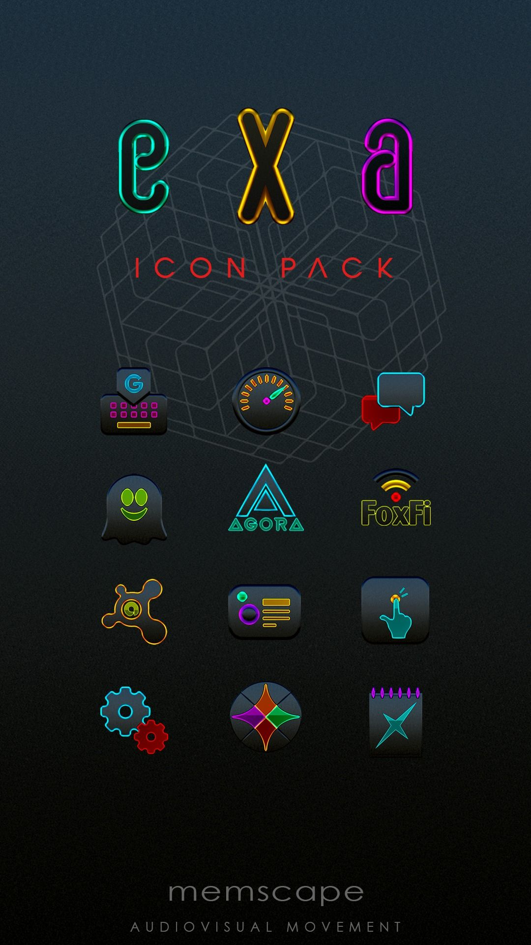 The EXA Icon Pack requires an Android smartphone or tablet