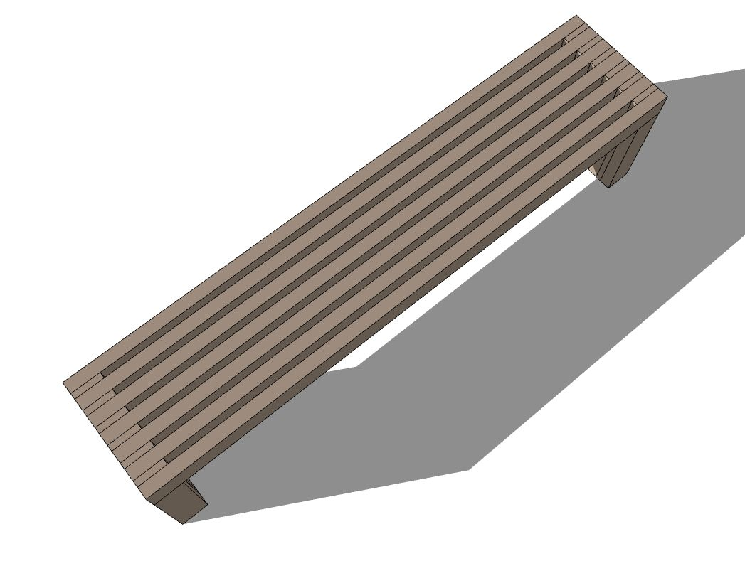 ana white build a modern slat top outdoor wood bench free and