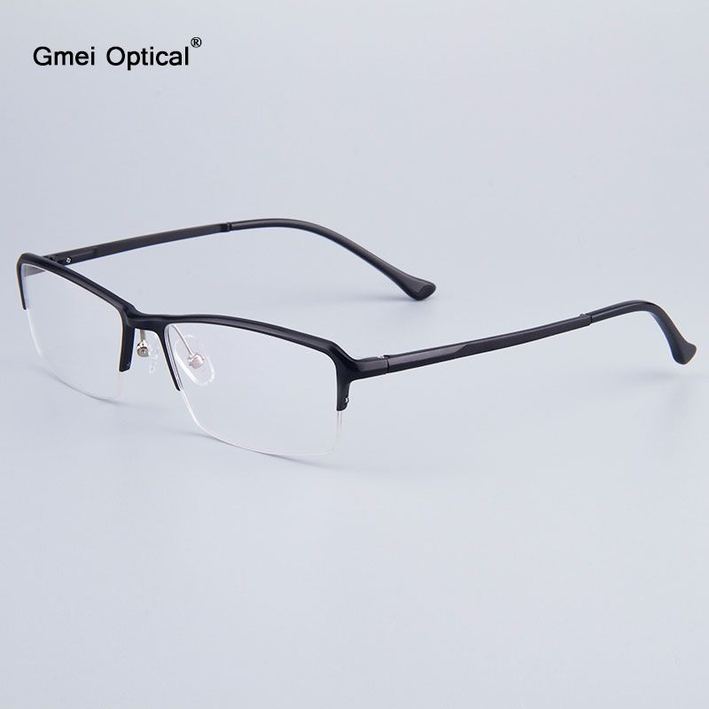 Voguish Business Men Half-Rim Glasses Frames Brand Designer Women ...