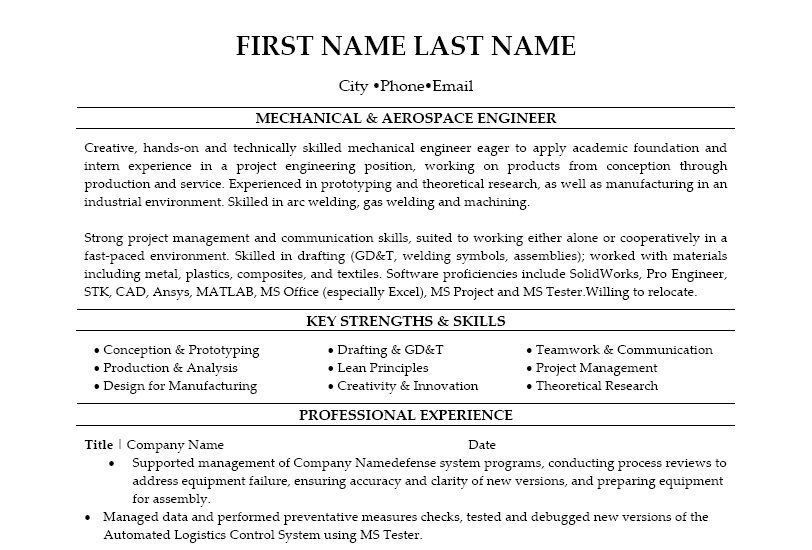 Click Here To Download This Aerospace Engineer Resume Template