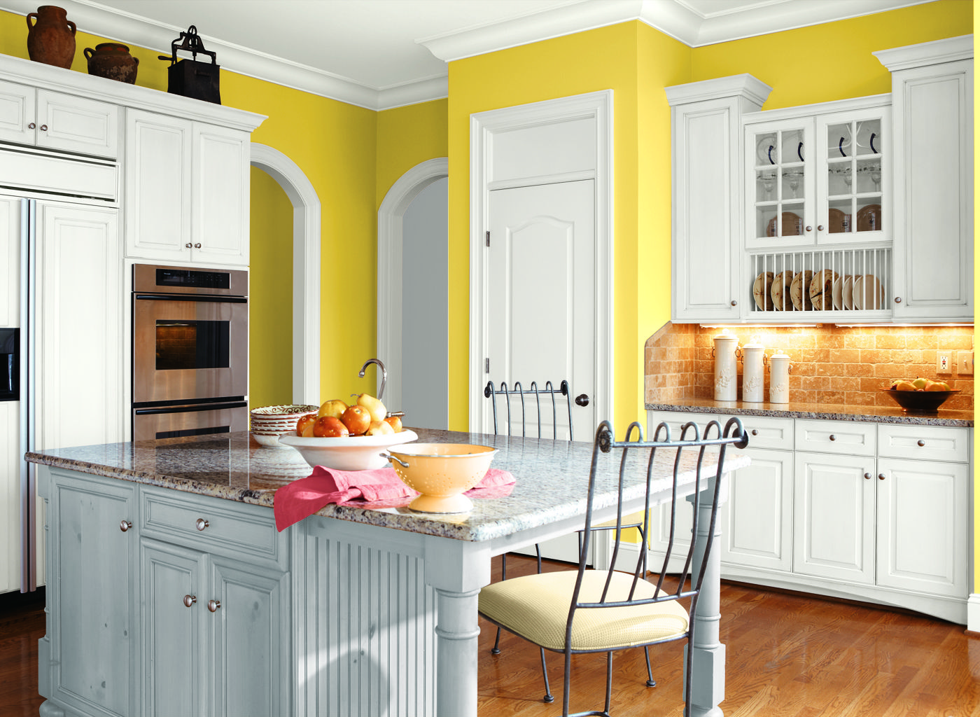 Bright yellow kitchen | Paint Colors | Pinterest | Kitchens