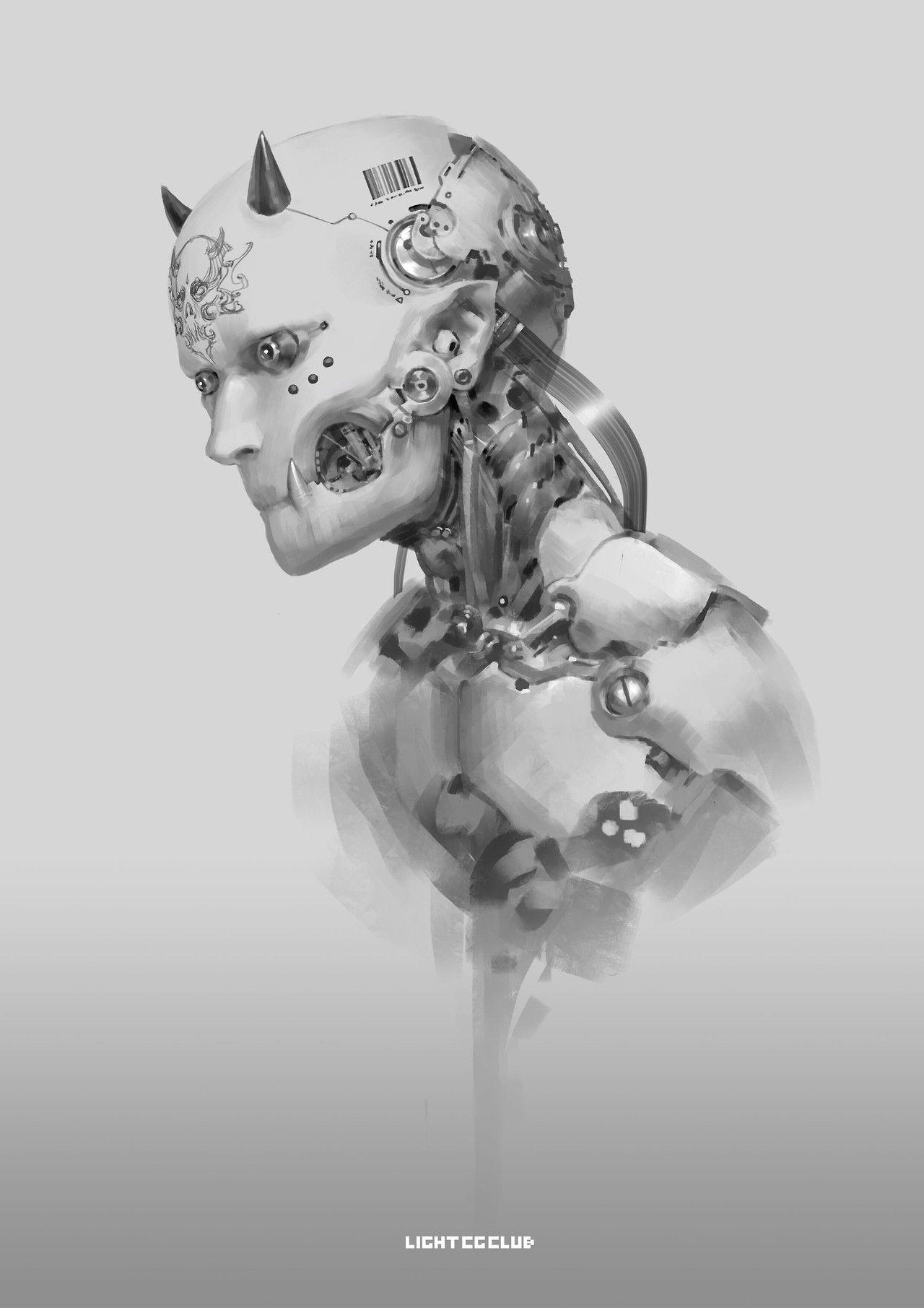 robotics #cyborg #sci_fi #body_horror #wires #cyberpunk #art ...