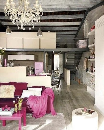 Design Industrial Glam Decor Loft Living Apartment Chic Loft