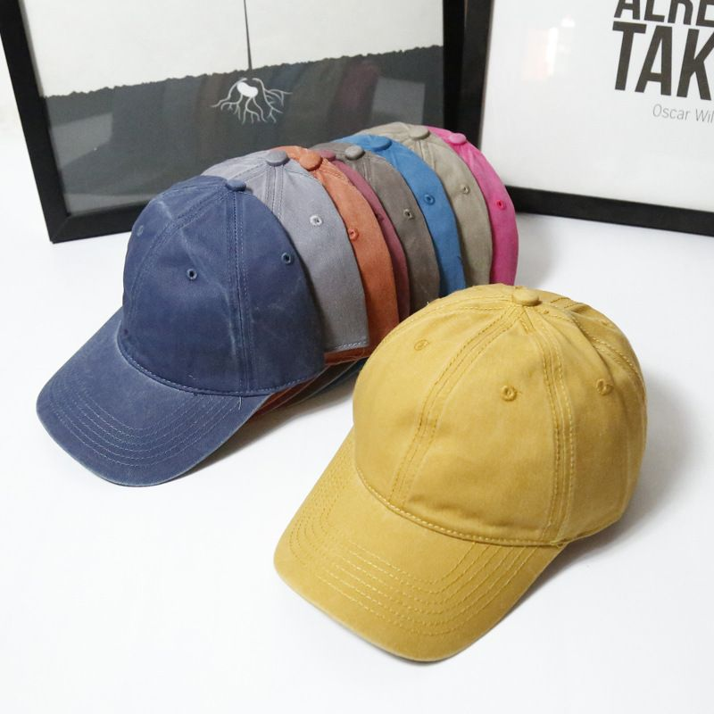c7e1120a00e Click to Buy    New Plain Washed Cloth Twill Solid Strapback Hats  Unconstructed