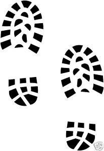 Details about Bootprint/Footprint/Shoeprint Vinyl Stickers