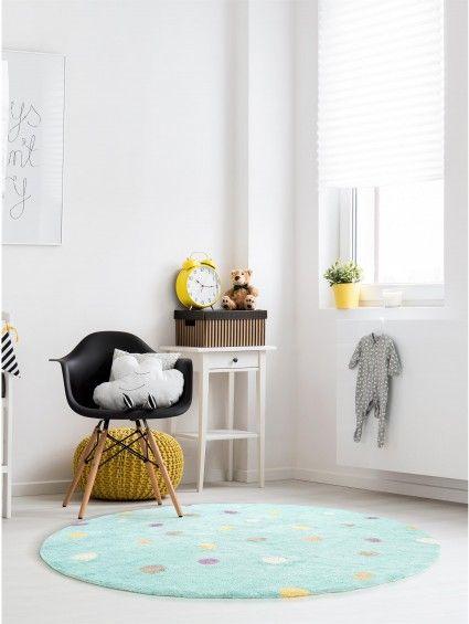 Kinderteppich Bambini Dots Turkis Teppiche