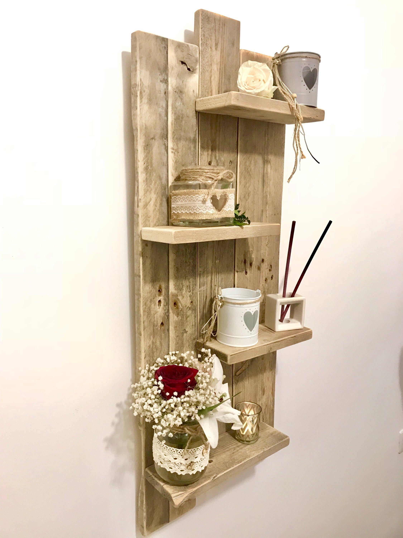 tableau tag re murale en bois de palette h100 by. Black Bedroom Furniture Sets. Home Design Ideas