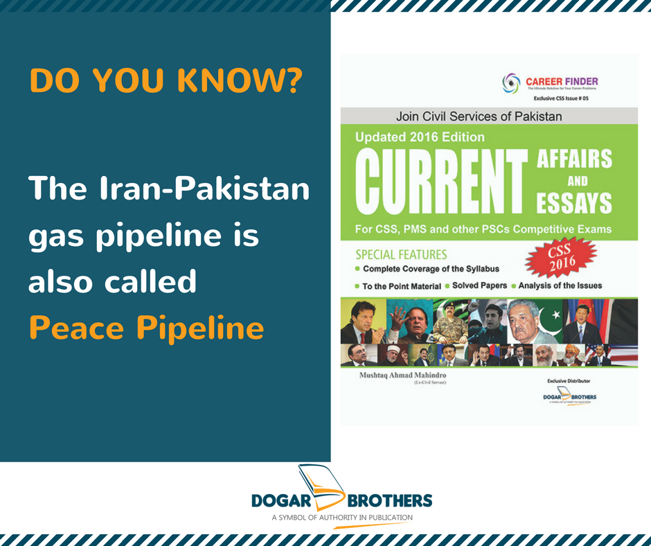 Do You Know? The IranPakistan gas pipeline is also called