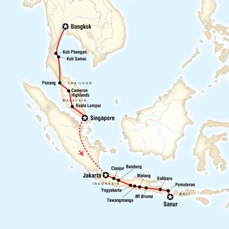 Map of the route for Bali Pinterest Asia Southeast asia and