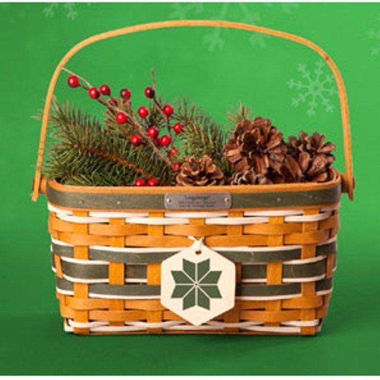 Longaberger Christmas Basket.Longaberger 2015 Christmas Collection Yuletide Greeting
