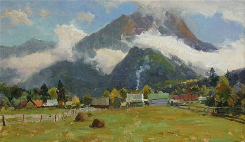 Clouds over Arkhyz. Plein air sketch. 45/75  #arkhyz #arkhyz2016 #oillandscape #oiloncanvass #gallery  #collepleinairctioner  #colors  #mountains  #mountainlandscape  #Impressionism  #Impressionist #artbasel  #artlovers  #paintings  #painter  #Landscape2016  #landscapes  #fineart  #artcollector  #paintings