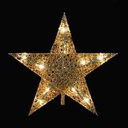 this gold wire lighted star tree topper has 10 lights and a 48 green lead wire incandescent clear bulbs 4 spares and 1 replacement fuse your christmas