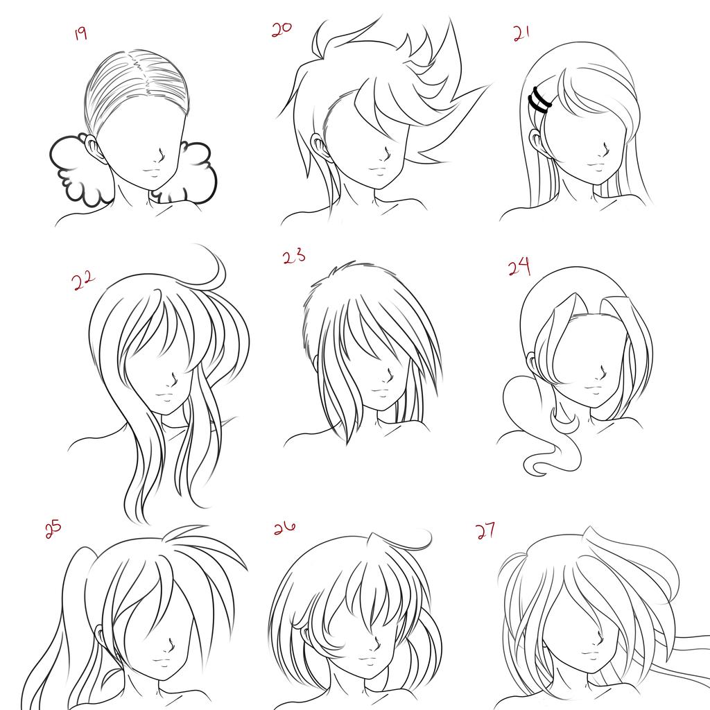 Anime Female Hair Style 3 By Ruuruu Chan On Deviantart Female Anime Hairstyles Anime Hair How To Draw Anime Hair