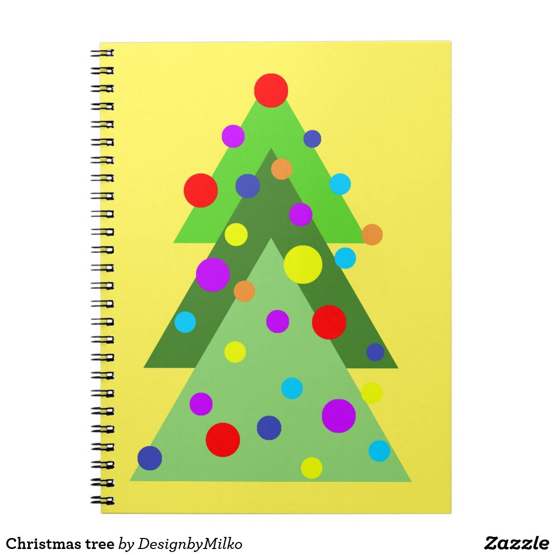 Christmas Tree Notebook Zazzle Com Custom Notebooks Christmas Tree College Rule