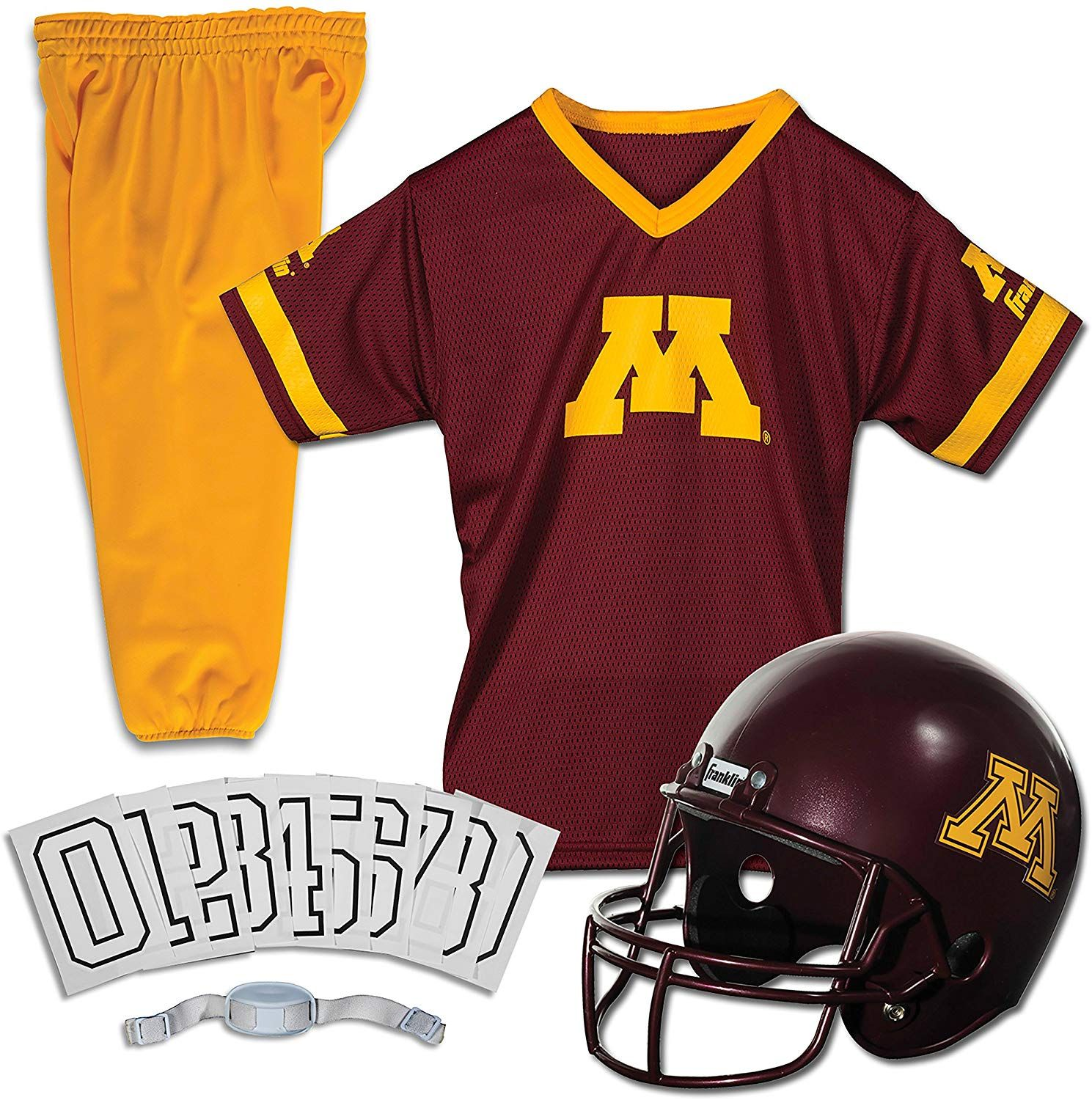 Amazonsmile Franklin Sports Ncaa Minnesota Golden Gophers Deluxe Youth Team Uniform Set Mediu In 2020 Franklin Sports Minnesota Golden Gophers Kids Football Outfits