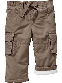 Performance Fleece-Lined Cargo Pants for Baby
