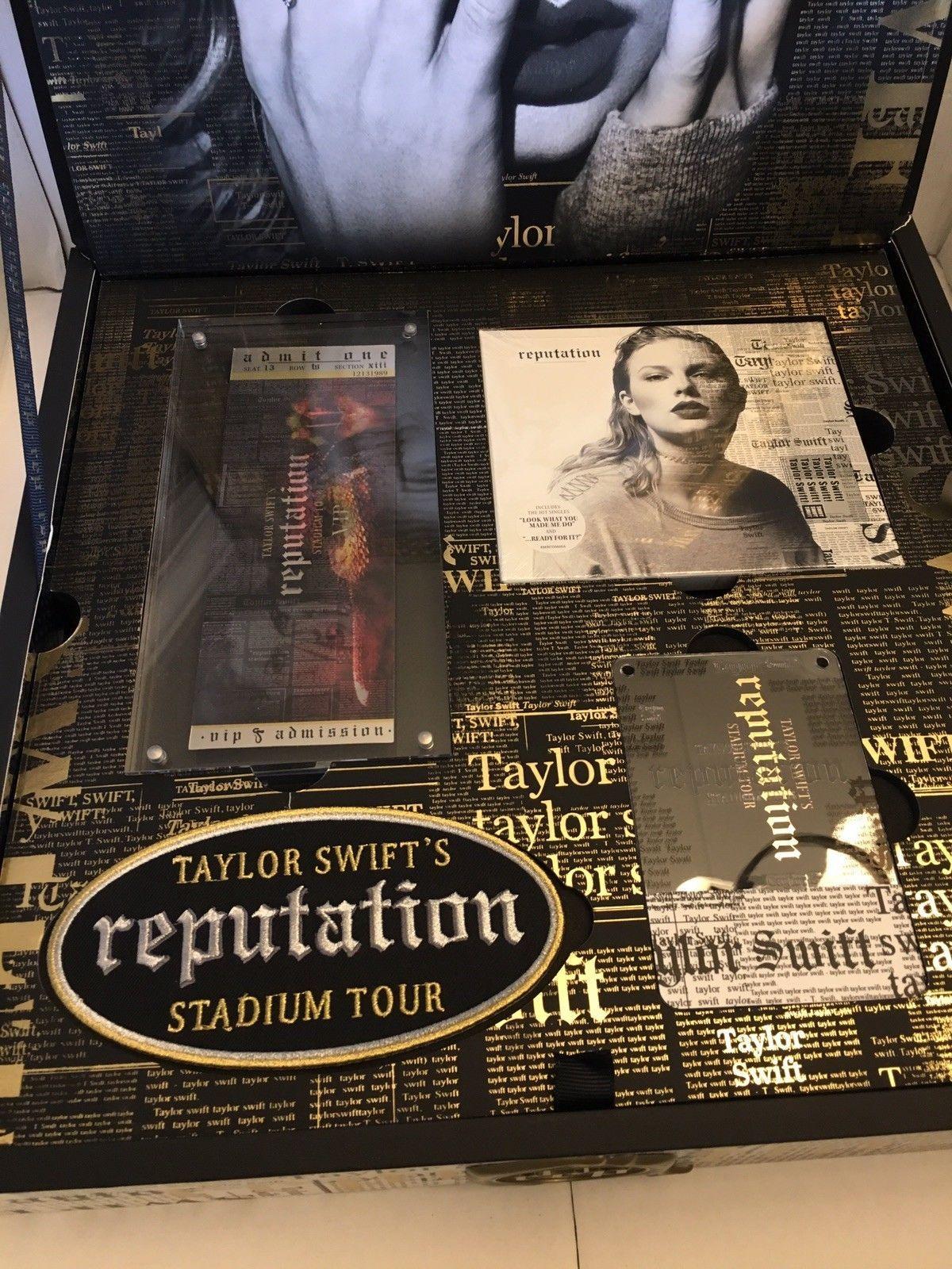 Taylor Swift Gift Box Reputation Tour Vip Collectors Commemorative Box Taylor Swift Merchandise Taylor Swift Concert Taylor Swift