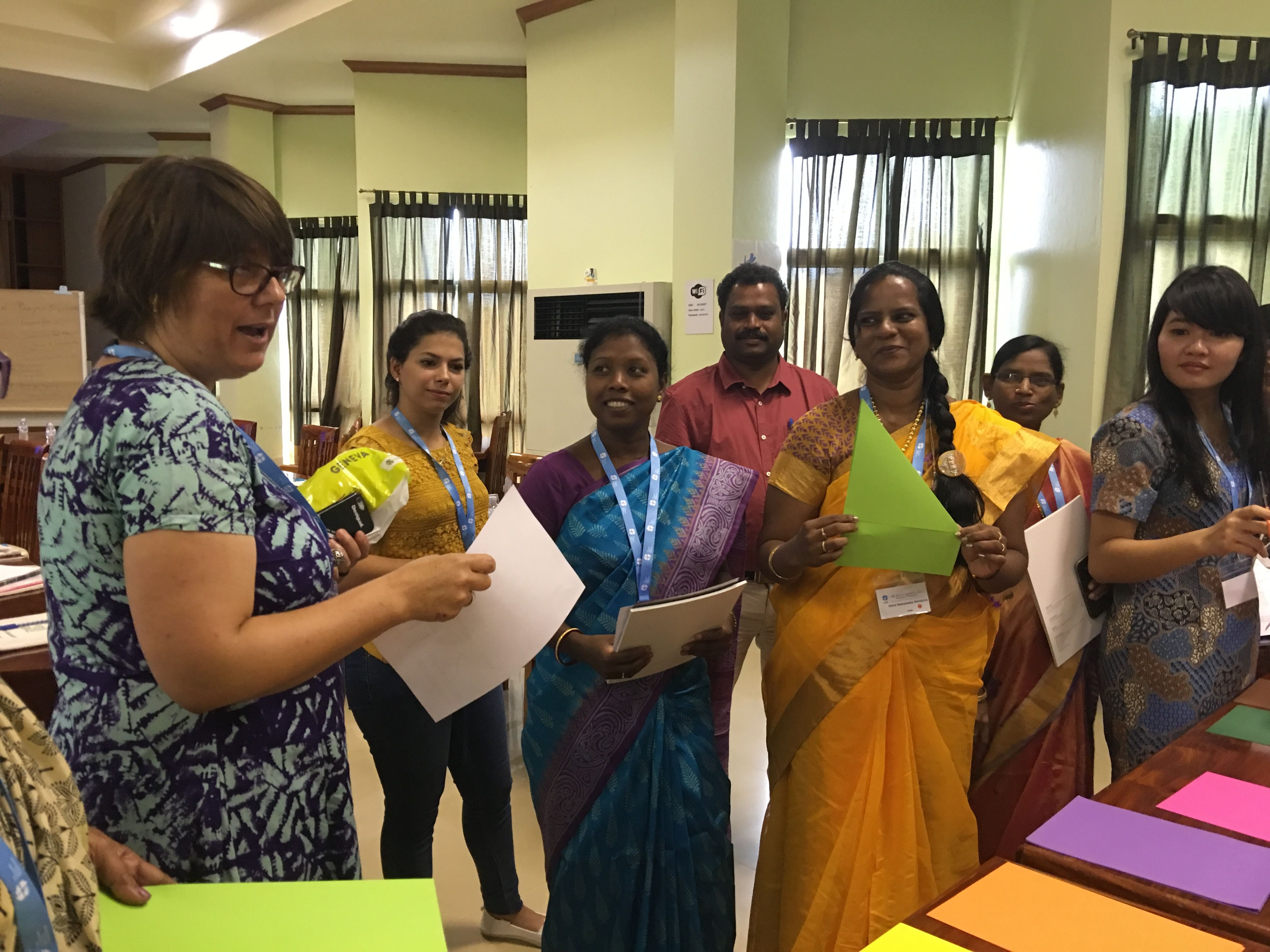 Women in Church and Society Secretary, Rev. Dr Elaine Neuenfeldt conducting a Women on the Move workshop during the Asia pre-Assembly in Bangkok.  #Day258 until the Twelfth Assembly #Assembly365 #Lutheran