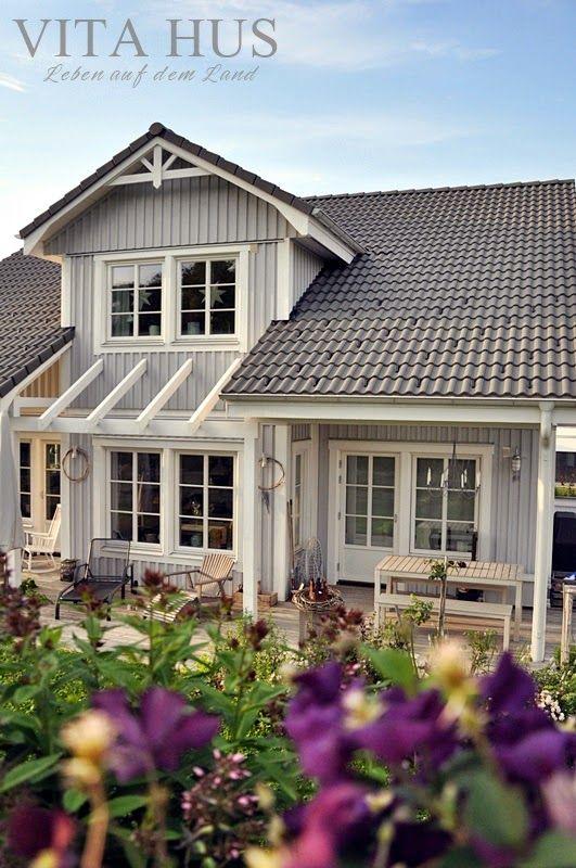 Unser schwedenhaus von aussen architecture pinterest haus haus ideen and schwedisches haus - Skandinavisches gartenhaus ...