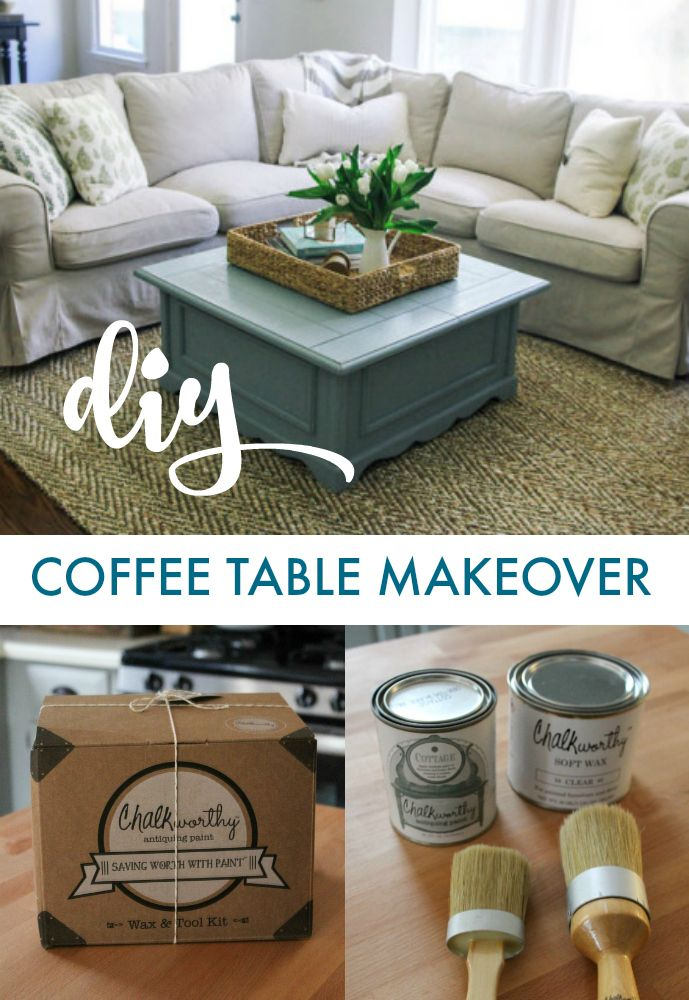 Diy Coffee Table Makeover Using Chalkworthy Antiquing Paint In The Shade Cottage The Perfect Accent Coffee Table Makeover Table Makeover Diy Coffee Table