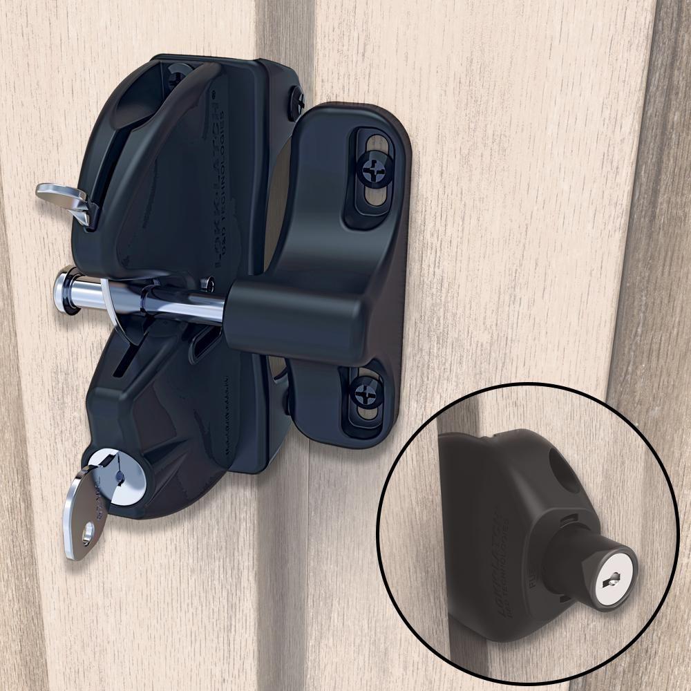 Lokk latch dd black twosided keylockable general